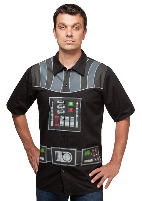 I Am Vader Short Sleeve Button-Up