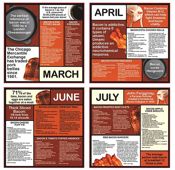I Love Bacon Calendar