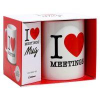 I Love Meetings Coffee Mug Box