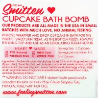 I Love My Geek 8-Bit Heart Cupcake Bath Bomb