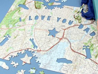 I Love You Dad Map Puzzle