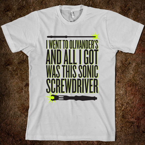 I Went to Olivander's and All I Got Was This Sonic Screwdriver T-Shirt