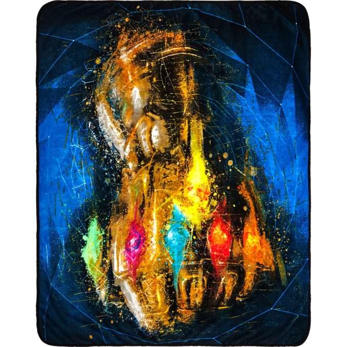 Infinity Gauntlet Plush Throw Blanket