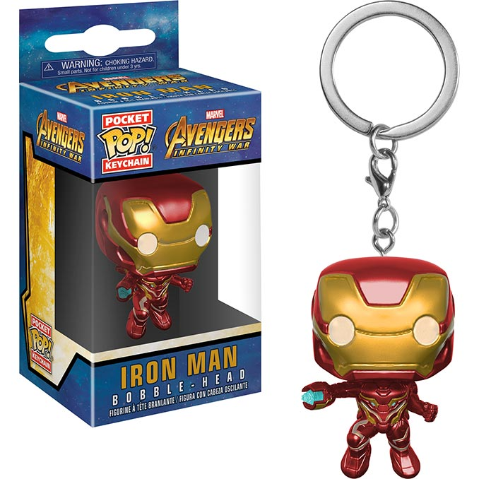 Infinity War Iron Man Funko Pocket Pop Keychain