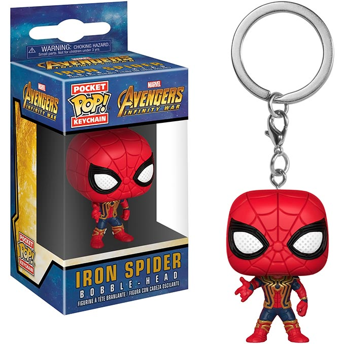 Infinity War Iron Spider Funko Pocket Pop Keychain