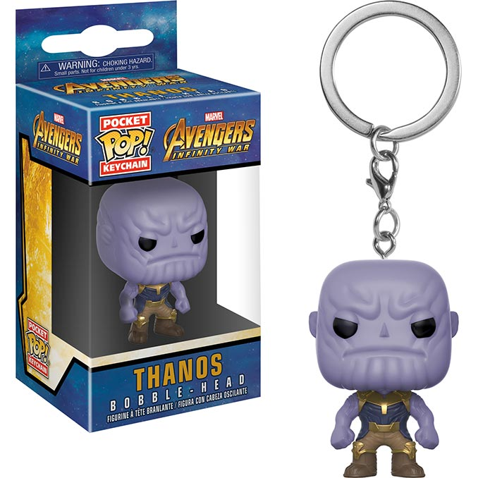 Infinity War Thanos Funko Pocket Pop Keychain