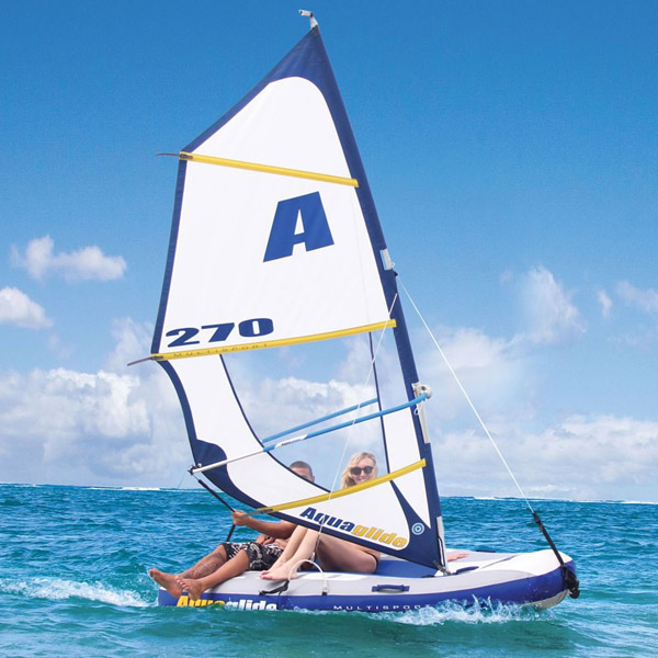 Inflatable Windsurfer And Sailboat
