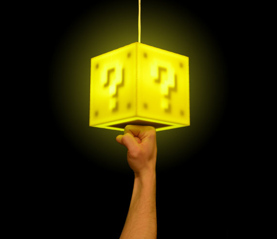 Interactive Super Mario Coin Block Pendant Lamp