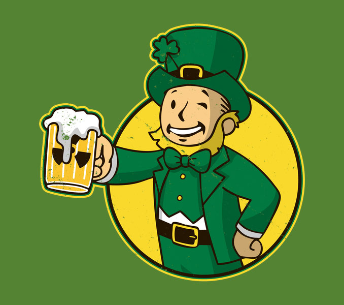 Irish Vault Boy Fallout T-Shirt