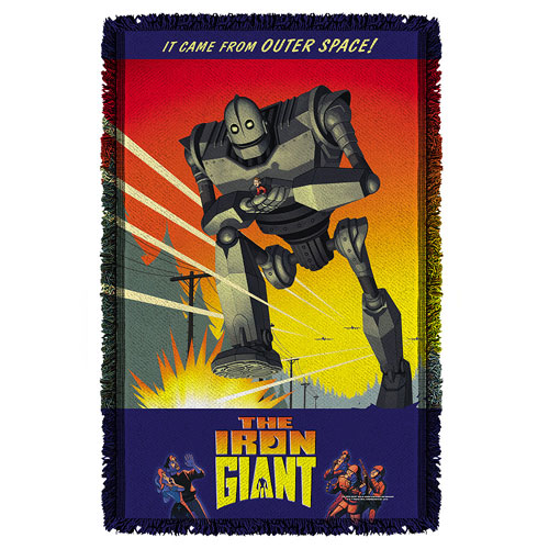 Iron Giant It Came From Space Woven Tapestry Throw Blanket