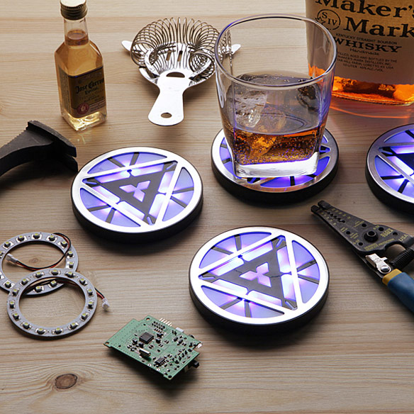 Iron Man 3 Arc Reactor Light Up Coasters