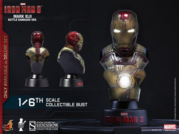 Iron Man 3 Deluxe Set Battle Damaged Bust