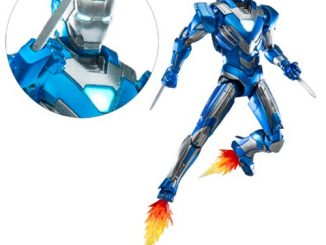 Iron Man 3 Mark 30 Blue Steel Die-Cast Metal Action Figure