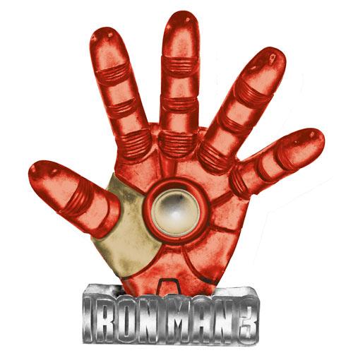 Iron Man 3 Movie Solar Powered Light-Up Resin Paperweight