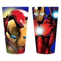 Iron Man Close-Up Pint Glass 2-Pack