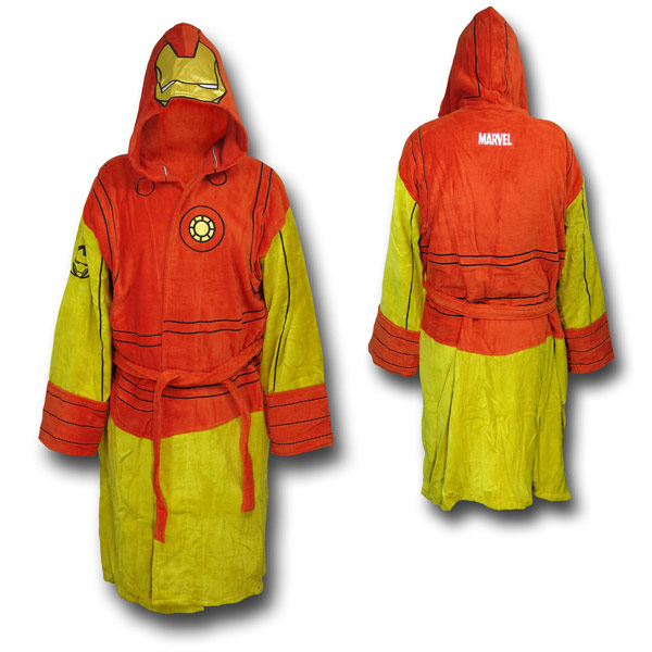 Iron Man Costume Hooded Robe