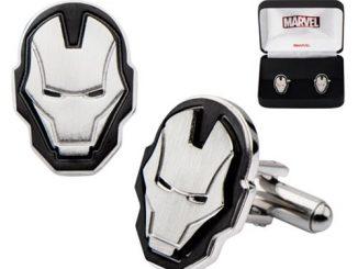 Iron Man Face Stainless Steel Cufflinks