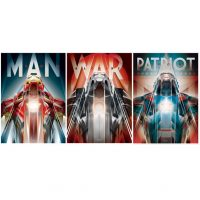 Iron Man Foil Triptych Art Print by Orlando Arocena