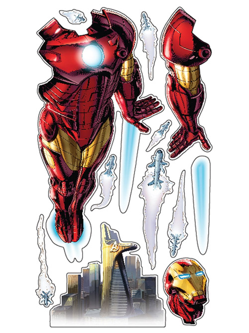 Iron Man Full Power Aerial Pursuit Wall Decal