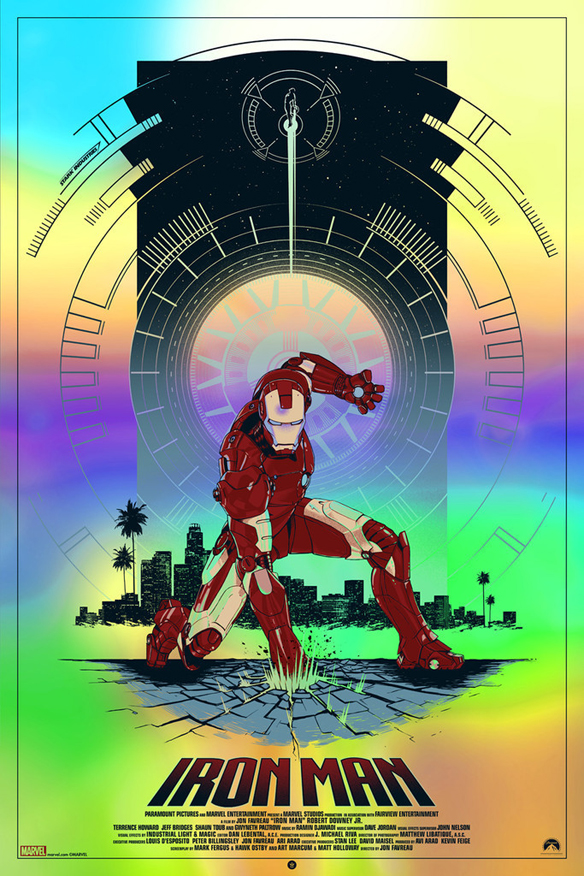 Iron Man Glow-In-The-Dark Poster
