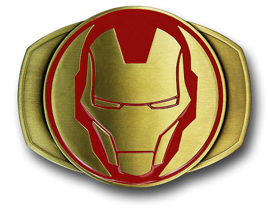 Iron Man Helmet Brass Belt Buckle
