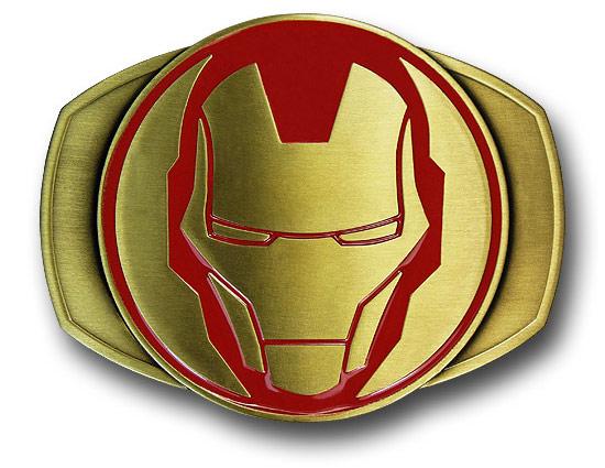 Iron Man Helmet Brass Belt Buckle