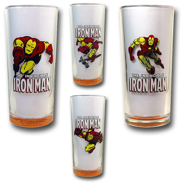 Iron Man In Action Retro Cooler Glass Set