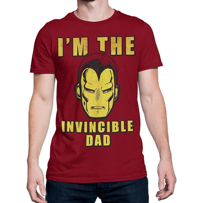 Iron Man Invincible Dad T-Shirt