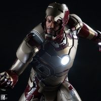 Iron Man Mark 42 Quarter Scale Maquette with Tony Stark Face
