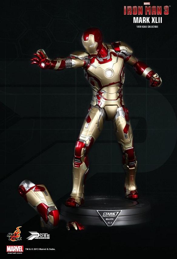 Iron Man Mark XLII Power Pose Series Sixth Scale Figure