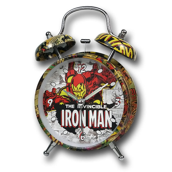 Iron Man Mosaic Alarm Clock