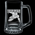 Iron Man Premium Etched Glass Stein