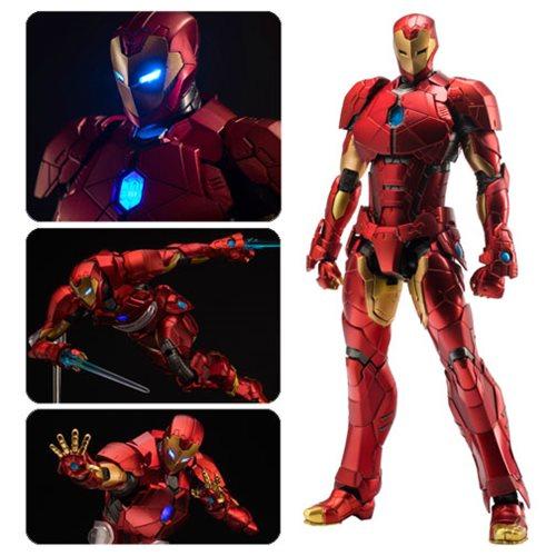 Iron Man Shape Changing Armor Re Edit Light-Up Action Figure