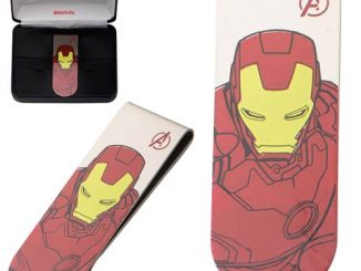 Iron Man Stainless Steel Laser Etched Color Money Clip