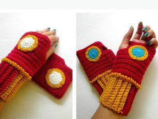 Iron Man Wristwarmers