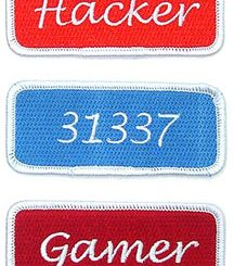 Iron-on Geek Patches