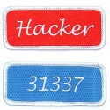 Iron-on Geek Term Patches