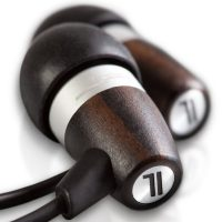 JLab Acoustic Natural Ebony Wood and Metal Fusion Earphones