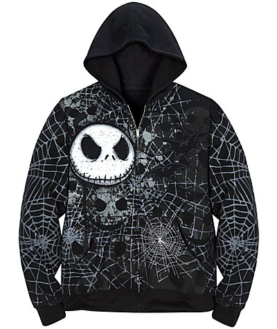 Jack Skellington Fleece Hoodie for Men