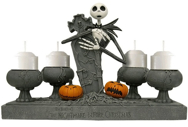 Jack Skellington Tombstone Votive Candle Holder