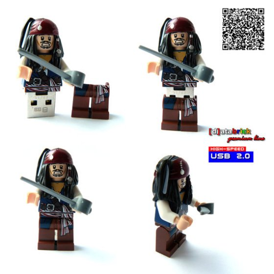Lego Jack Sparrow Custom USB Drive