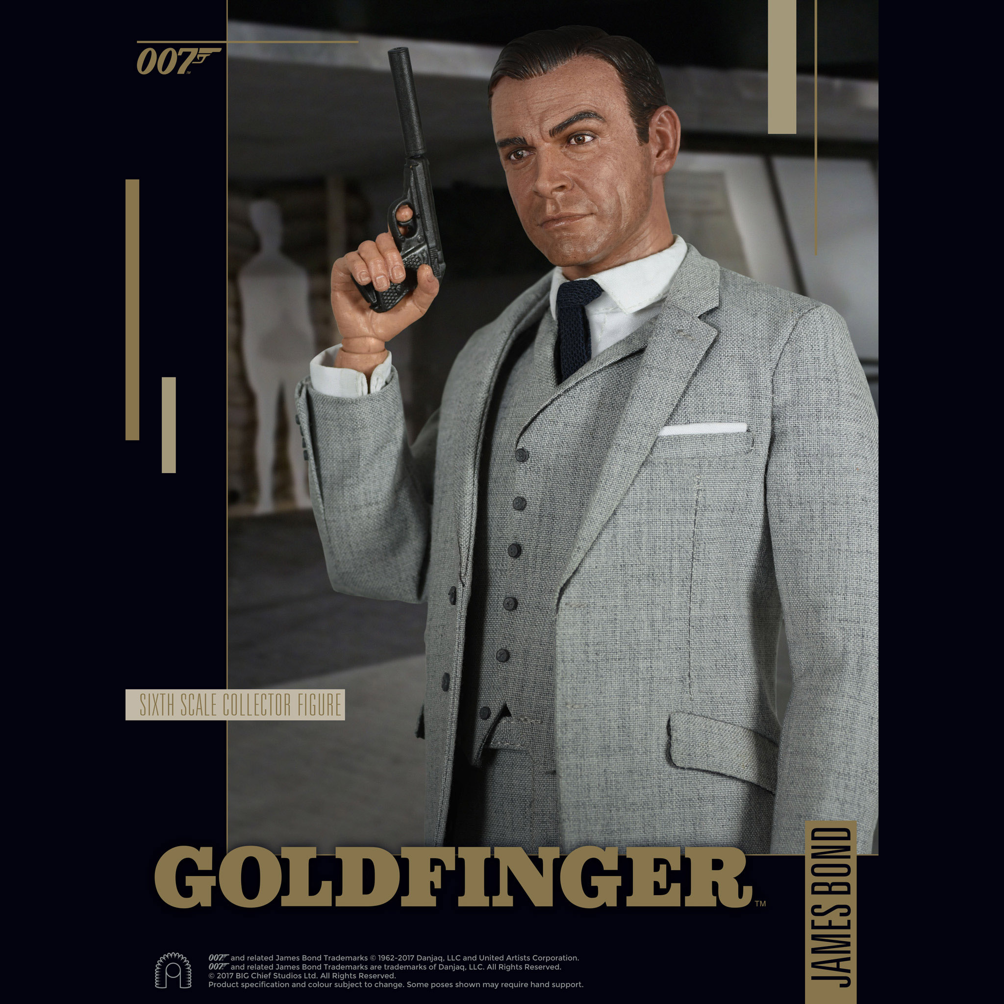 James Bond Goldfinger Collection Sixth-Scale Figures ...