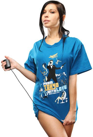 James Bond Worthy Electronic Spy Camera T-Shirt