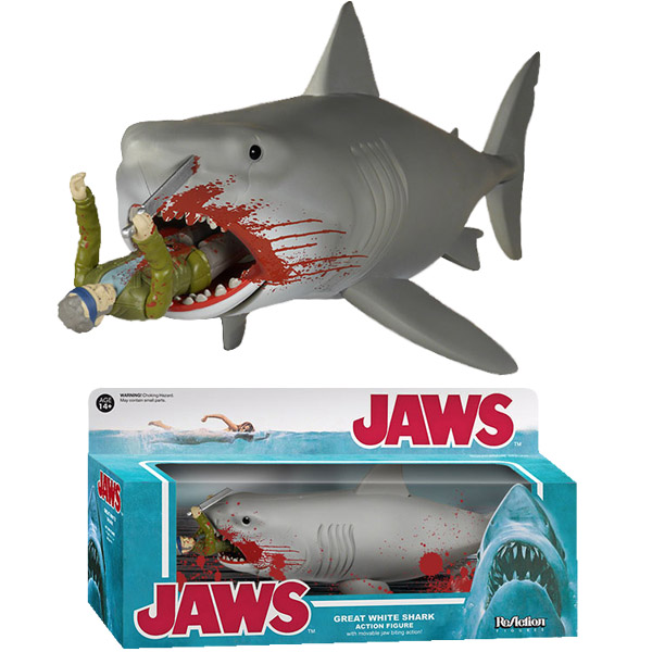 Cool Shark Toys : Jaws bloody quint and shark reaction figure