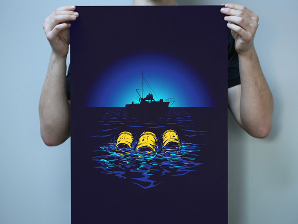 Jaws Three Barrels Poster