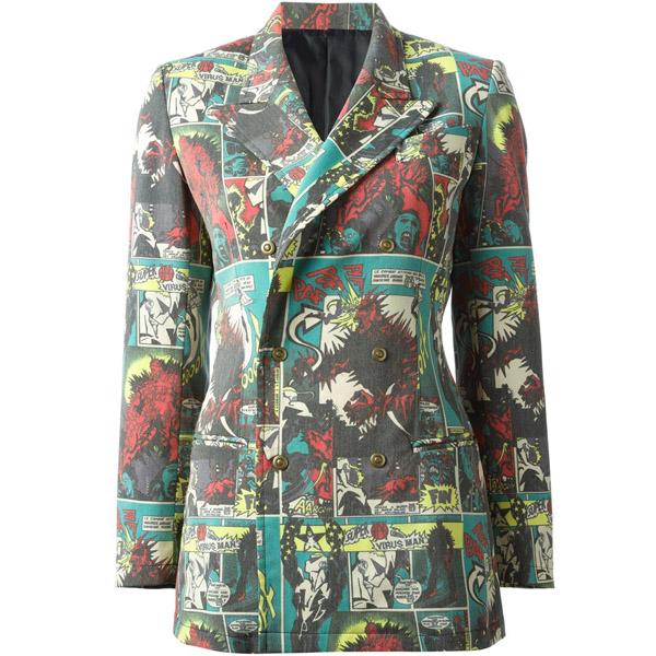 Jean Paul Gaultier Vintage Comic Print Jacket