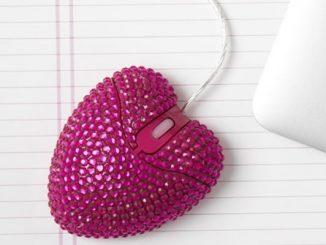 Jeweled Heart Mouse