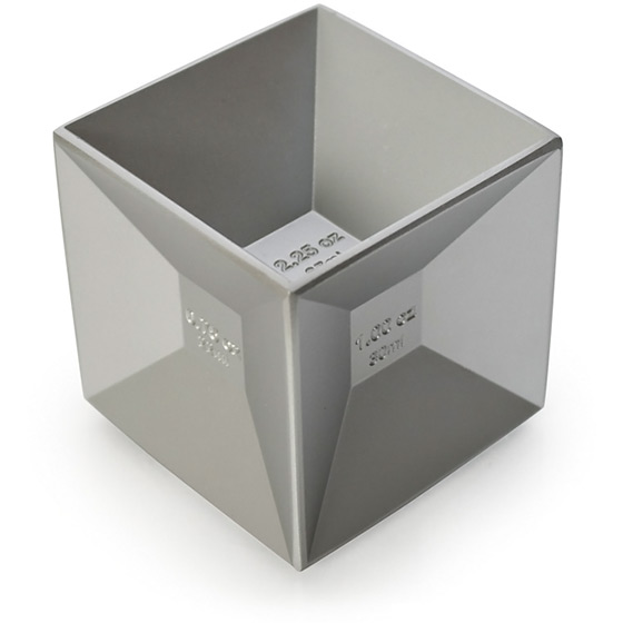 Jigger Aluminum Cube