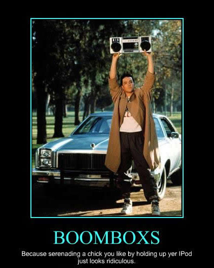 John Cusack with boombox in Say Anything