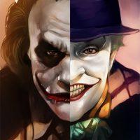 Joker Split Art Print